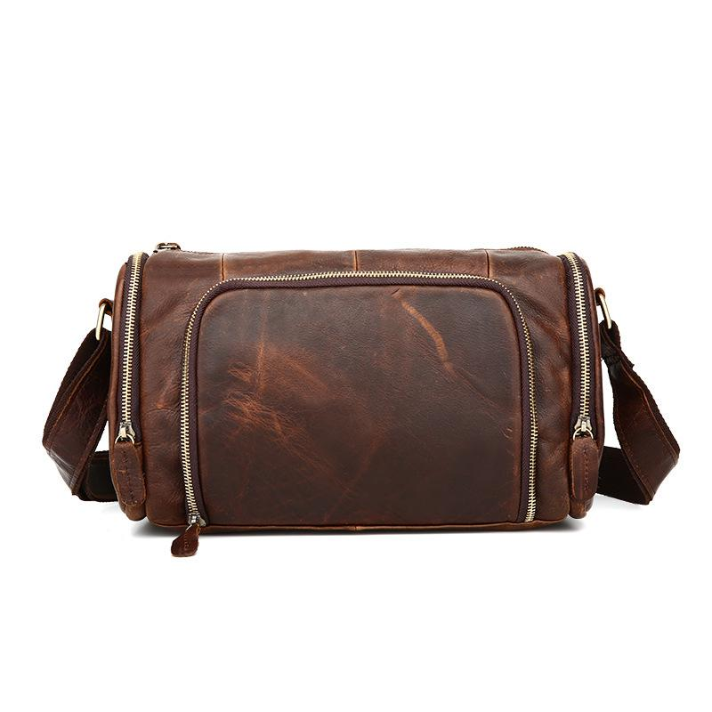 High Quality Genuine Leather Cowhide Single Shoulder Messenger Crossbody Bags Real Cowhide Purse Famous Male Small Hand Bag j quinn genuine leather men small shoulder bag clutch bags real cowhide purse handbag mens messenger business crossbody male bag