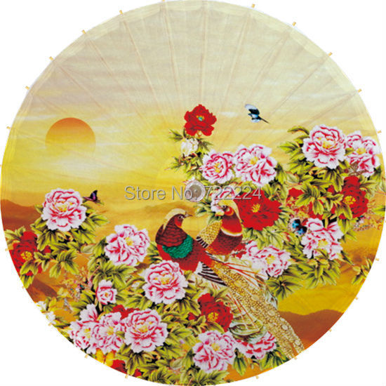 Dia 84cm chinese traditional handmade non-automatic peony oiled paper umbrella decorative dance props women wedding umbrella dia 84cm chinese handmade red plum blossom oil paper umbrella ancient waterproof sunshade parasol decoration gift dance umbrella