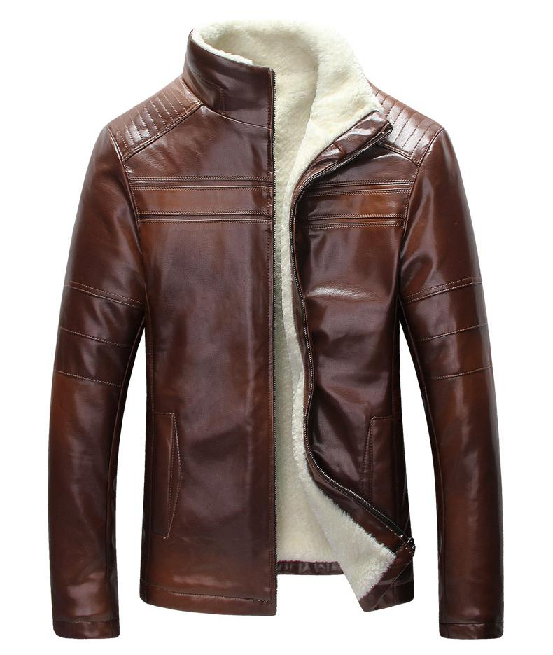 The New South Korean Mens Leather Jacket With A Leather Jacket And Leather Jacket