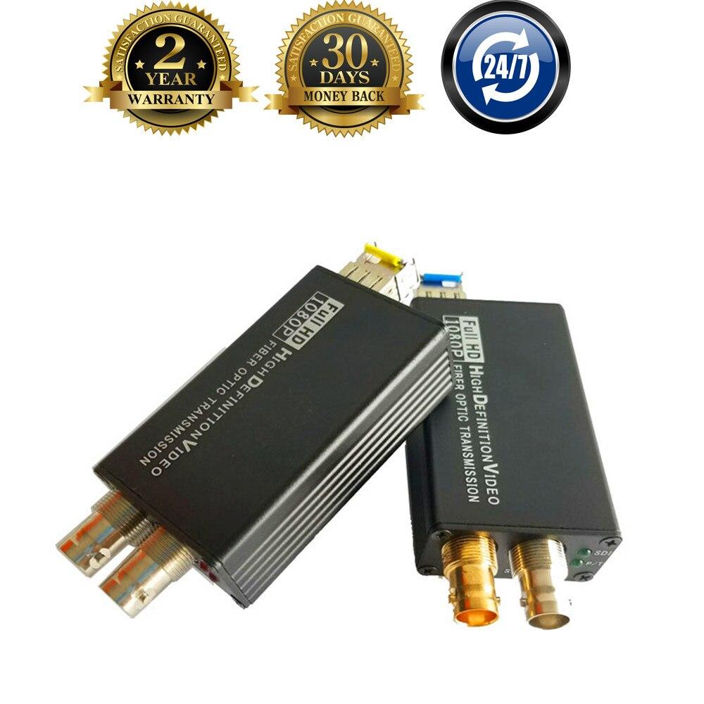 New 20km HD SDI Fiber To BNC Coaxial Convertor Fibra Optic Converter 1080P HD SDI Fiber
