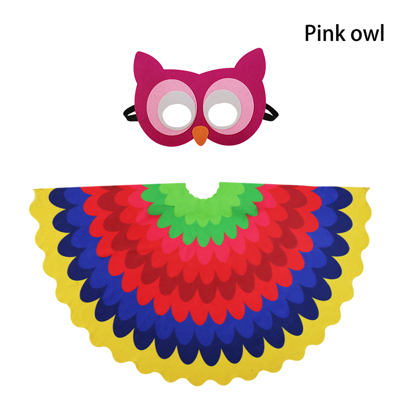 3 8 Y O Special Lovely Bright Owl Wing Mask Cartoon Character Owl Child Costumes Animal Party Picnic Gifts Dance School Show