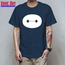 73ea4b2e HAVE BOY Cartoon Movie Big Hero 6 Baymax Mens T Shirt T-shirt Fashion New O  Neck Cotton Tshirt Tee Camisetas Masculina HB170