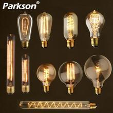Retro Luz de Edison bombilla E27 220V 40W A19 ST64 G80 G95 G125 T10 T45 T185 ampolla Vintage lámpara incandescente filamento de bombilla Edison