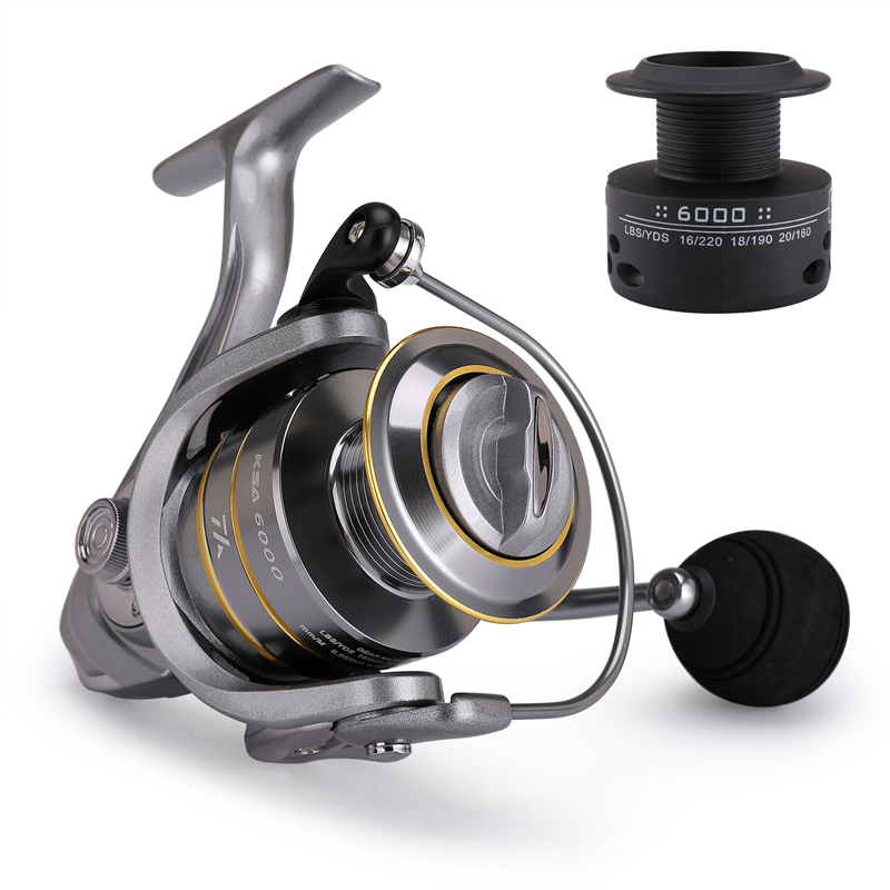 High-Quality Fishing Reel With Non-Slip Bottom And Metal Spool For Saltwater 2