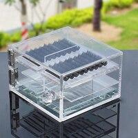 6 Layers Individual Eyelash Organizer Acrylic Eyelash Extension Storage Box Grafting False Eyelash Storage Box Show Case