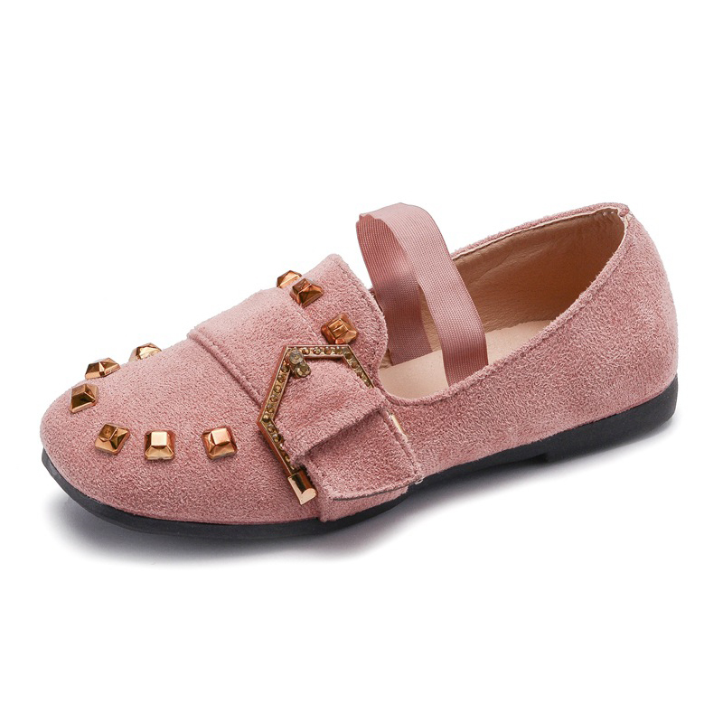 Children Shoes Princess Girls Rivet Shoes 2018 Hot Sale Kids Sneakers Shallow Mouth Leather Fashion Soft Girls Flat Casual Shoes in Sneakers from Mother Kids
