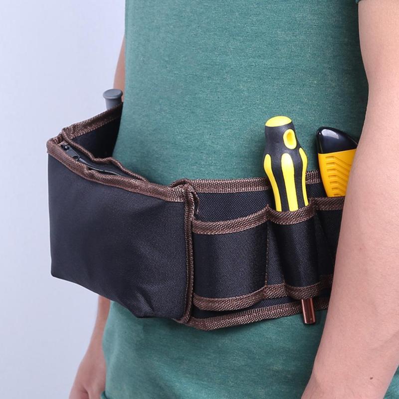 Tool Bag Multifunction Zipper Cloth Tool Bag Durable Hardware Mechanics Electrician Waterproof Instrument Storage Pouch Holder