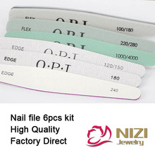 Retail Nail Files New 6pcs/set Nail Art File Nail Buffer Sandpaper Slim kit Set 6 styles Available Manicure Pedicure Nail Tools