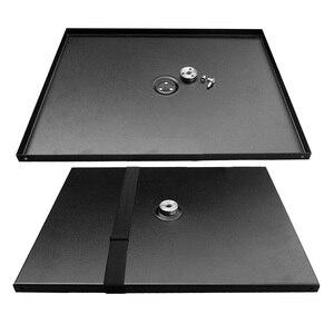 Image 4 - Besegad 39x29 cm Universal Metal Tray Stand Glasplaat Platform Houder voor 3/8 inch Statief Projectoren Monitoren laptops