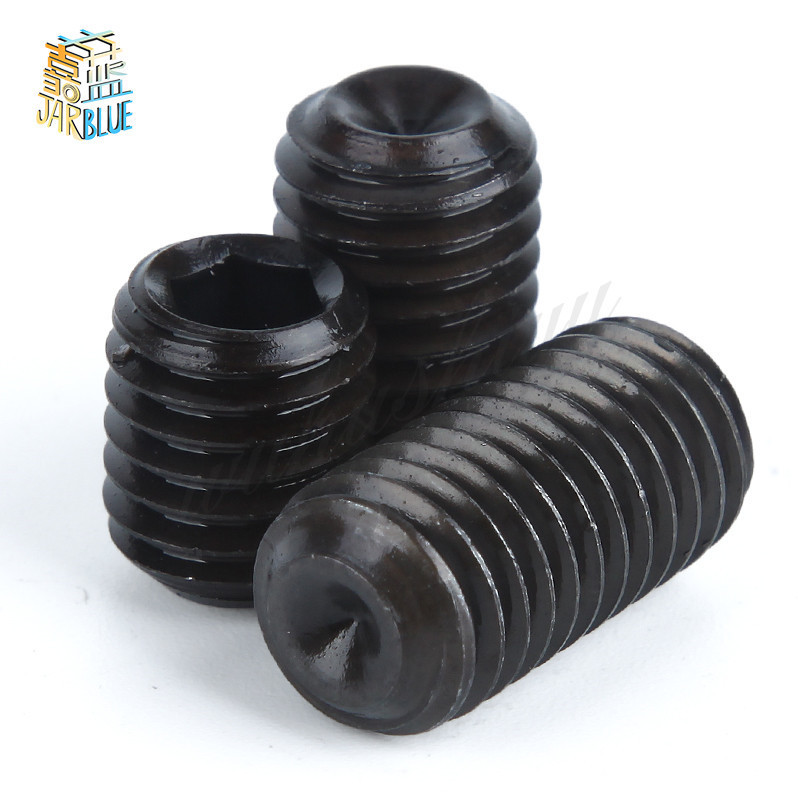 50Pcs M2 M2.5 M3 M4 M5 M6 DIN916 Black Carbon Steel Metric Thread Grub Screws Inner Hexagon Socket Set Screw 50pcs m2 m2 5 m3 m4 din916 black carbon steel metric thread grub screws inner hexagon socket set screw hw025