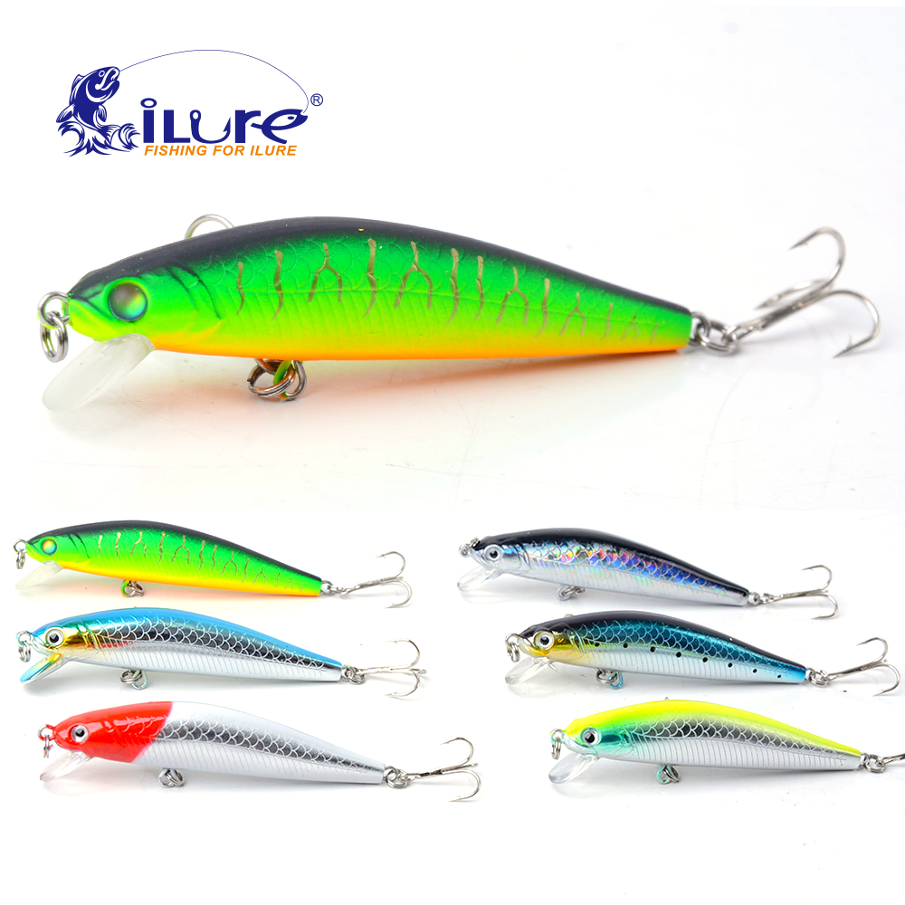 2016 New Minnow 70mm 6g 0 5 1 Mt Dive Artificial Bait Hard Plastic 3D Eyes