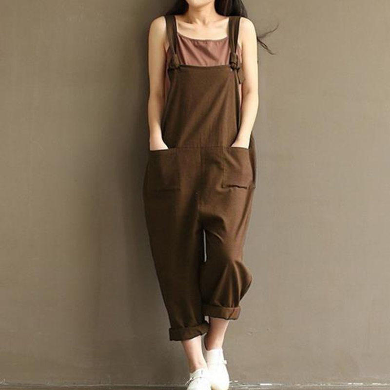 Women Summer Dungaree Baggy Overalls Girls Casual Loose Harem Pants Bib Trousers Baggy Suspender L140