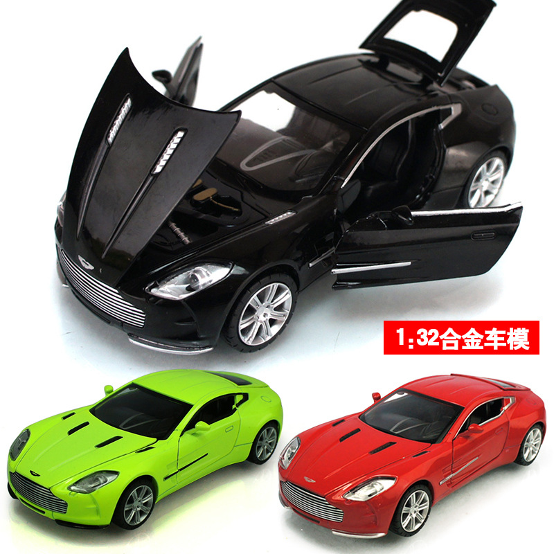 Aston 1:32 car model Alloy high quality original kids Toy car sound&light pull back miniatures