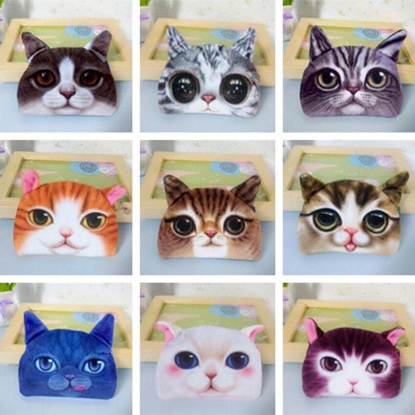 M132 Cute Cartoon Harajuku Meow Star Coin Purse Cat Dog Semicircular Purse Wallet Girl Women Student Bag Gift Wholesale