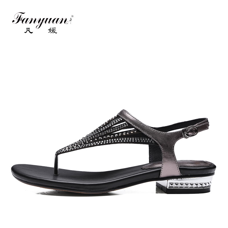later exclusive shoes great deals 2017 Fanyuan Flat Sandals Summer Handmade Leather Gladiator Sandals ...