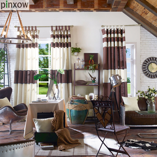 Cotton Linen Living Room Window Panel Curtains Solid Coffee Bedroom Fabric Drapes Plain Cafe White Blinds