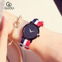 New Brand Women Men Quartz Watch Luxury Colorful Canvas Strap Men Watches Casual Simple Style Watch