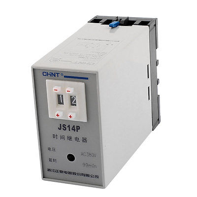 AC 380V 1-99min Two Adjustment Power On Delay Timer Digital Display Time Relay JS14P 5 pieces h3y 2 power on time delay relay solid state timer max 30m 220vac dpdt