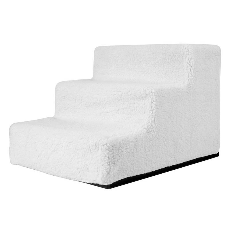 BMBY-Animal Stairs Training For Dogs / Cats White (three Floors)