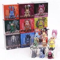 One Piece 9cs/set Den Den Mushi Mini Action Figures 1/12 Scale Dracule Mihawk Kuma Black Beard Doflamingo PVC Figure Toys Anime