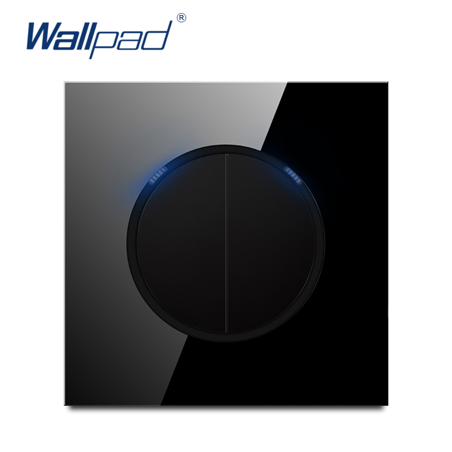 Wallpad 2019 New Arrival 2 Gang 2 Way Random Click Push Button Wall Light Switch With LED Indicator Crystal Glass Panel 16AWallpad 2019 New Arrival 2 Gang 2 Way Random Click Push Button Wall Light Switch With LED Indicator Crystal Glass Panel 16A