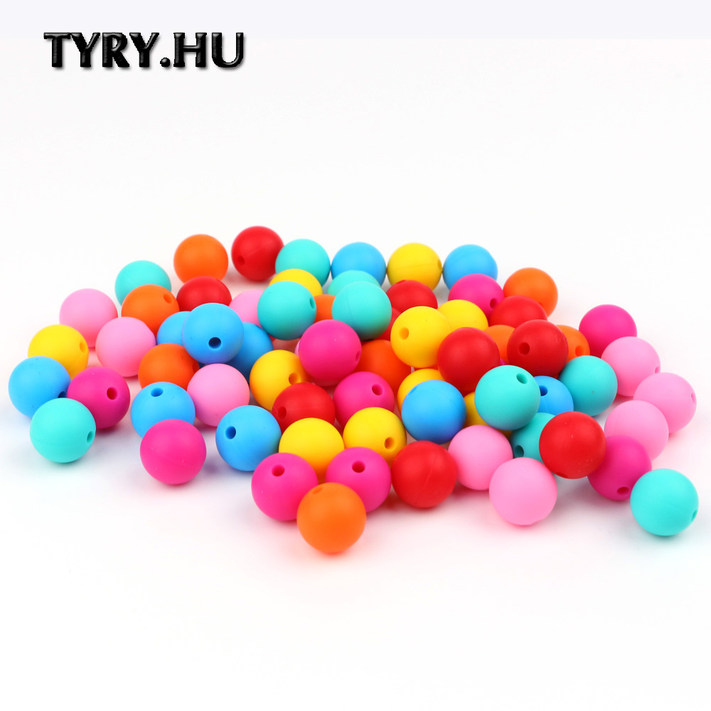 TYRY.HU 500 pieces Silicone Beads 12mm silicone teething beads for necklaces baby silicone teether Food Grade Silicone 10pc cube silicone letter beads personalized name letter bracelet chewing alphabet beads food grade silicone 12mm