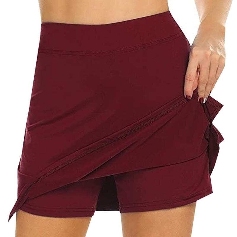 Women Anti-Chafing Pencil Skirts With Shorts Tennis Golf Workout Sports Pantskirts HSJ88