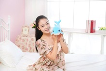 new cute small plush dolphin toy stuffed blue dolphin doll gift about 30cm