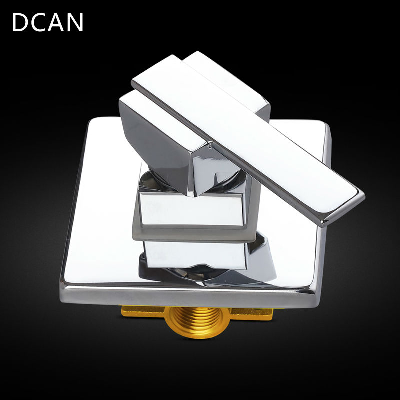 DCAN Bathroom Products In Wall Mounted Faucet Bath and Shower Mixer Valve Brass Chrome Single Function Actuated Faucet Valve