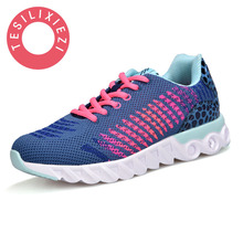 New Arrive 2018 Women Shoe Lace Up Summer Fashion Flat Shoe Flying Upper Breathable Comfortable Casual Shoes Lady Soft Shoes