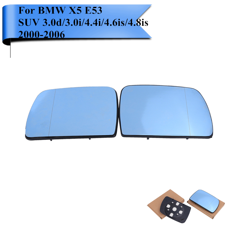 Left Side Rearview Mirror Glass Fit For BMW X5 E53 2000 2001 2002 2003 2004-2006