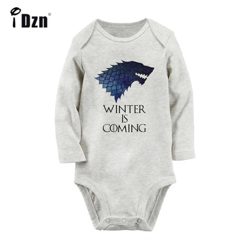 Popular Game of Thrones Is Coming Design Newborn Baby Boys Girls Outfits Jumpsuit Print Infant Bodysuit Clothes 100% Cotton Sets