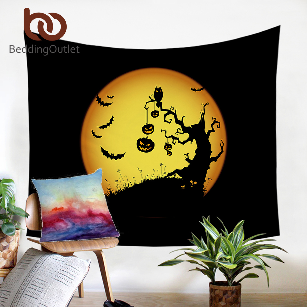 BeddingOutlet Halloween Party Tapestry Night Moon Microfiber Fabric ...