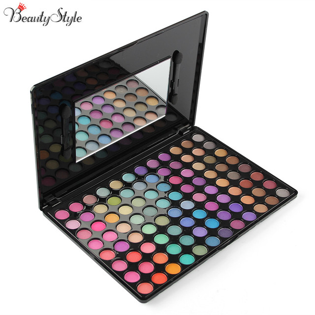 PRO 96 Full Colors Neutral Eyeshadow Eye Shadow Cosmetics Mineral Make Up Shimmer Party Makeup Pigment Palette Kit Set & Mirror