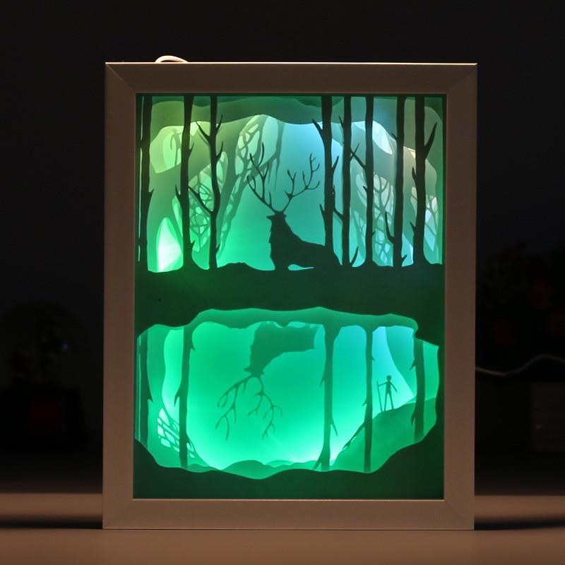 Luce e ombra di arte Del Capretto Del Fumetto luce 3D intagliato lampada da parete Della Novità di Carta di taglio luci LED illuminazione notturna Complementi Arredo Casa IY804017 12 - 5