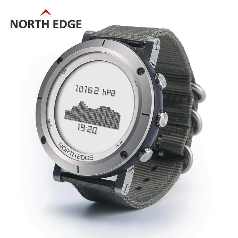 Relogio Masculino North Edge Men Sport Smart Digital watch Waterproof outdoor clock fishing thermometer climbing hours Watches