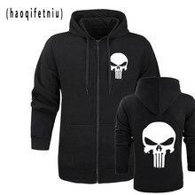 El Punisher Skull hoodies hombres zipper fitness casual fleece chaqueta  Harajuku sudaderas streetwear HOODY Homme m 52e15677d83e