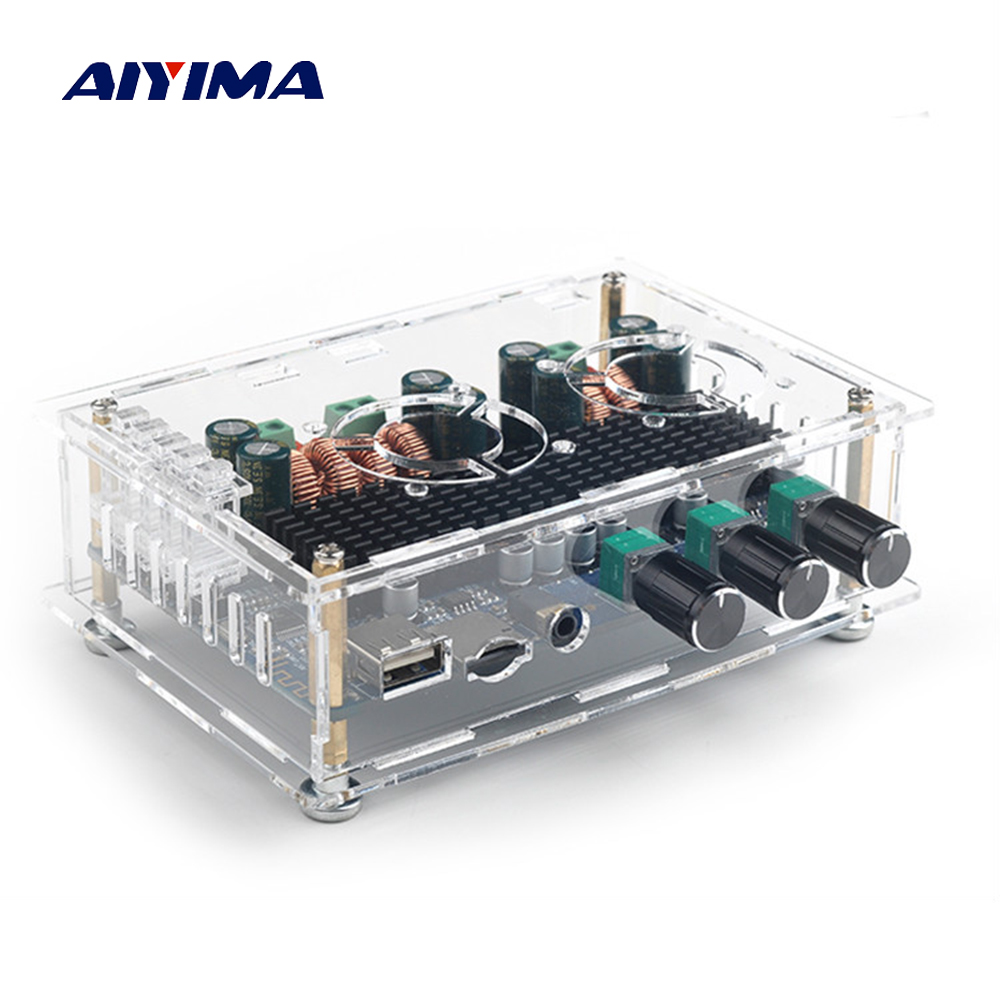 Aiyima TPA3116 Audio Amplifier Board 50W+50W+100W 2.1 Channel Digital Bluetooth Receiver Amplifier Support USB TF Card Decoding цены