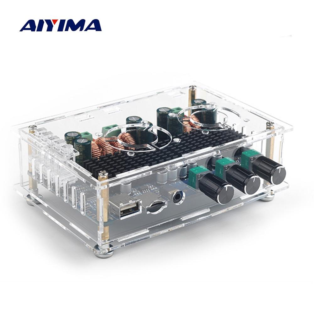 Aiyima TPA3116 Placa de amplificador de Audio 50 W + 50 W + 100 W 2,1 Canal Digital Bluetooth receptor amplificador soporte decodificación de tarjeta USB TF-in Amplificador from Productos electrónicos    1