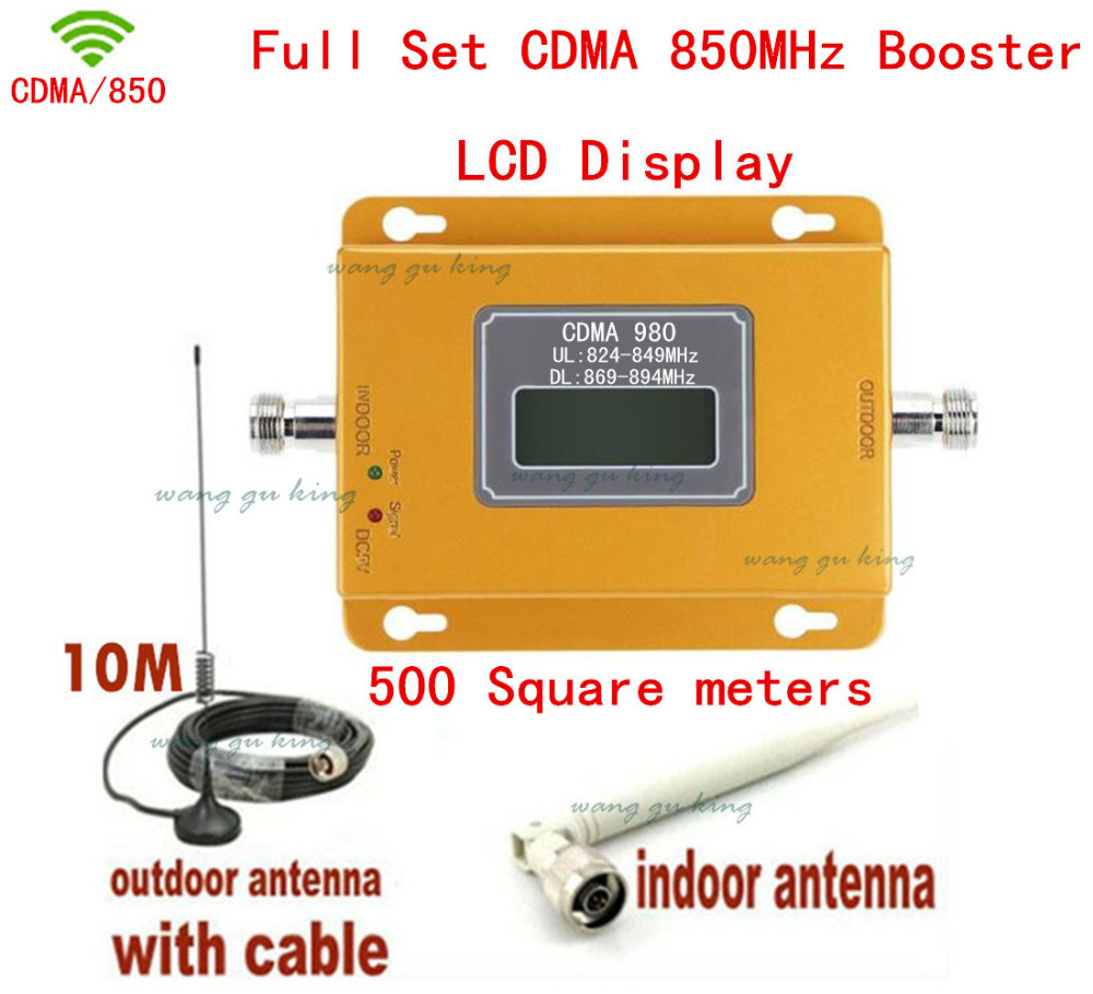850 MHZ CDMA Signal booster for mobile phone Gain 70db LCD screen outdoor magnetic base Antenna with cable indoor whip antenna850 MHZ CDMA Signal booster for mobile phone Gain 70db LCD screen outdoor magnetic base Antenna with cable indoor whip antenna