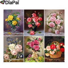 DIAPAI 5D DIY Diamond Painting 100% Full Square/Round Drill Colored flower landscape 3D Embroidery Cross Stitch Home Decor diapai 100