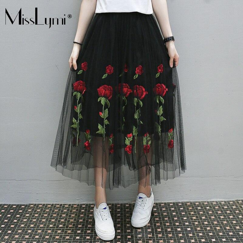 Юбка с розами вышивка