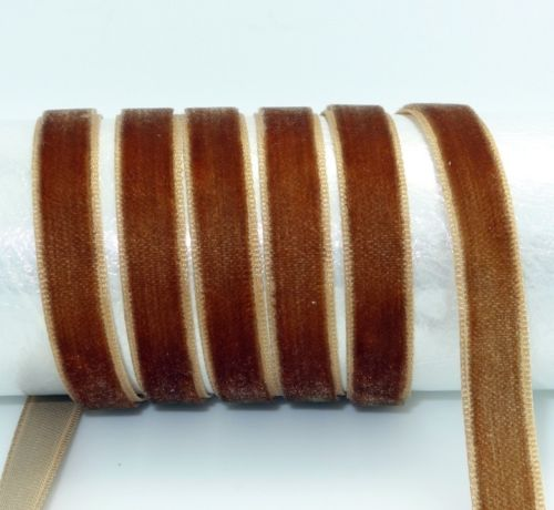 "DIY 5 ярдов 3/"" 10 мм мягкая удобная бархатная лента много цветов на выбор - Цвет: brown"