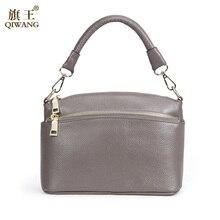 QIWANG 2017 Marke Mode Frau Tasche Kleine Schultertasche 100% Leder Kleine Shell Handtasche mit Schultergurt Einzustellen