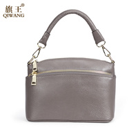 QIWANG 2017 Brand Fashion Woman Bag Small Shoulder Bag 100 Genuine Leather Hobo Small Handbag With