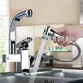 360 Degree swivel chrome faucet two spouts kitchen mixer faucet tap solid kitchen chrome faucets