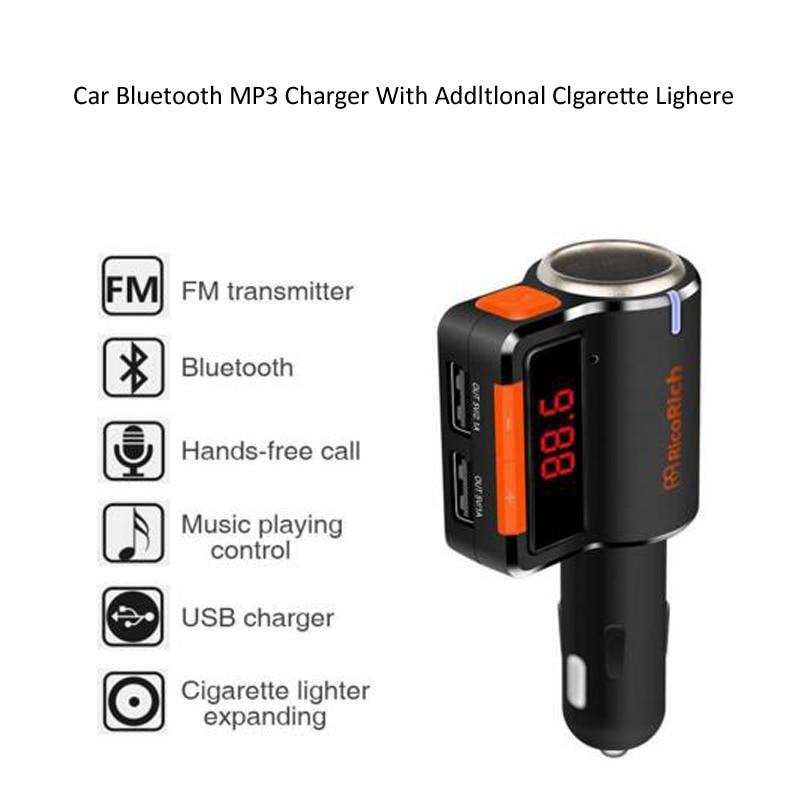 INGMAYA Bil Bluetooth-laddare 3.1A cigarettändare förlänga AUX - Reservdelar och tillbehör för mobiltelefoner - Foto 4