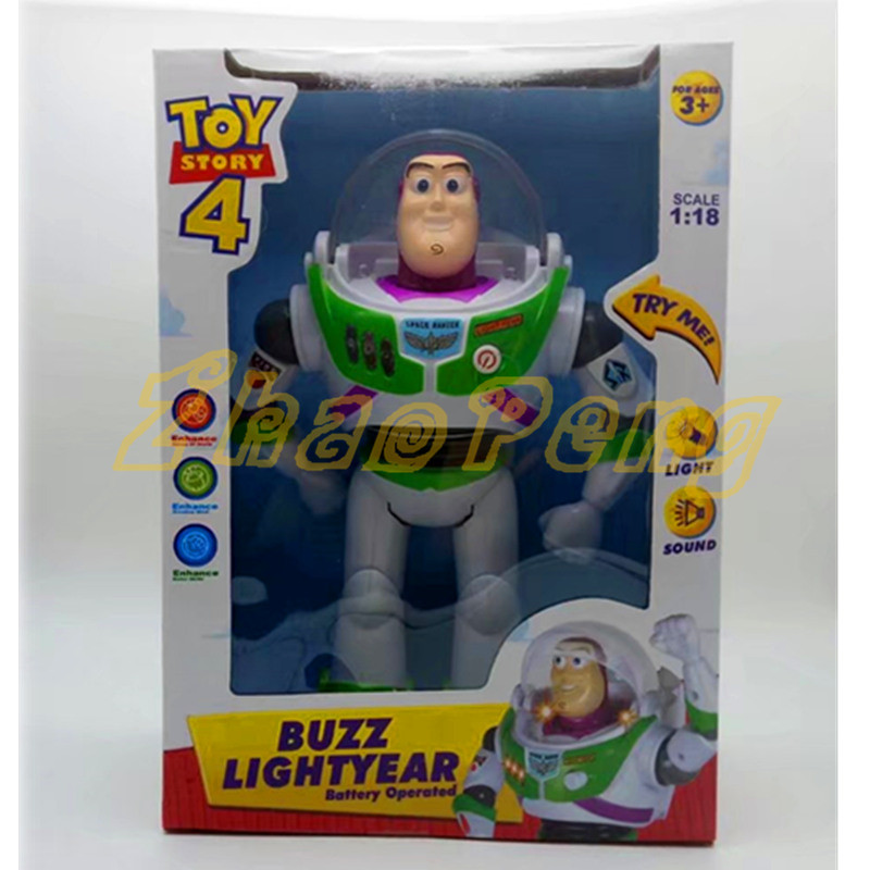 1/18 scale Toy Story 3 anime Buzz Lightyear figure Toys Lights Voices Speak English Joint movable Action Figures Children Gift free shipping toy story 3 buzz lightyear woody sound toys pvc action figures model toys dolls 3pcs set christmas gifts dsfg092