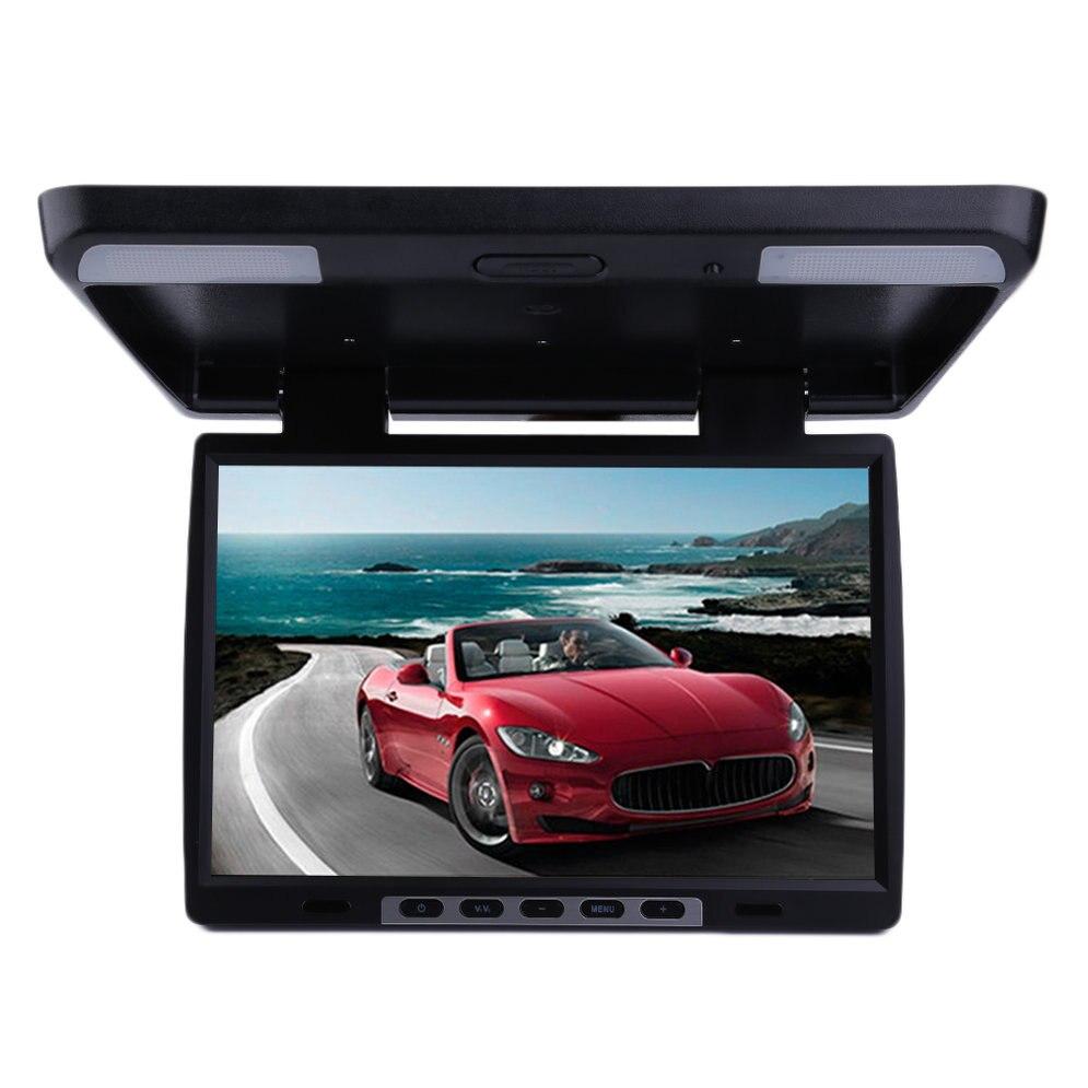 15,4 дюймов Высокое разрешение ЖК дисплей экран TFT потолочный флип подпушка автомобили автомобиля дисплей Мониторы ТВ плеер 154AV
