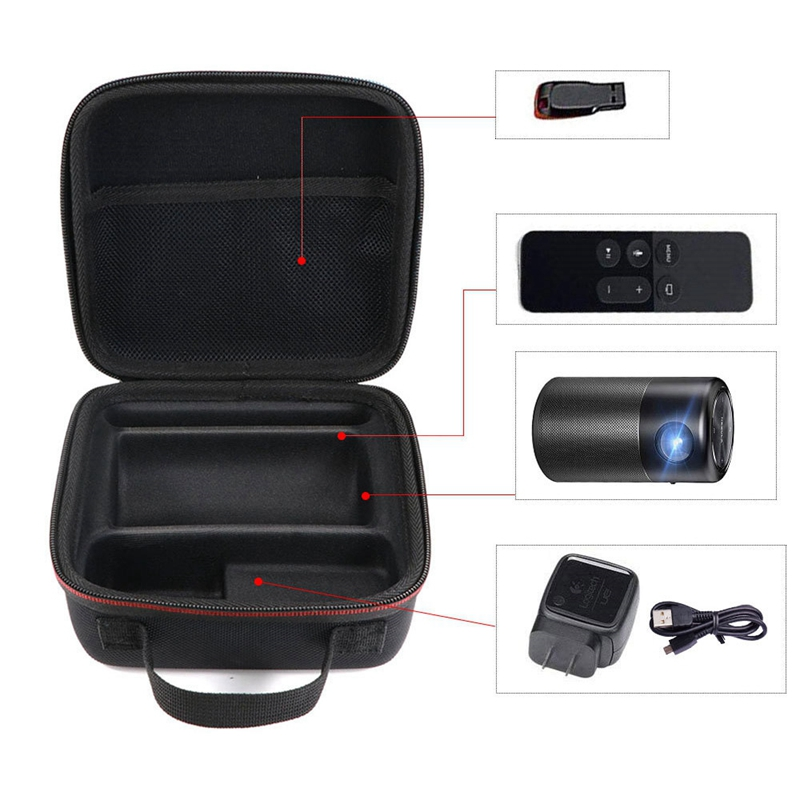 Hard Travel Case For Nebula Capsule Smart Mini Projector By Anker And Drive Accessories Carry Bag Protective Storage Box image
